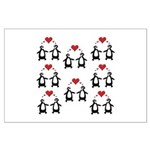Penguins In Love Large Poster