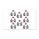 Penguins In Love 20x12 Wall Decal