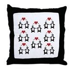 Penguins In Love Throw Pillow