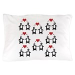 Penguins In Love Pillow Case