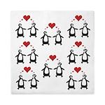 Penguins In Love Queen Duvet