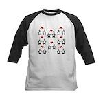 Penguins In Love Kids Baseball Jersey