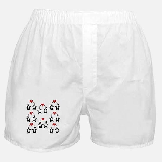 Penguins In Love Boxer Shorts