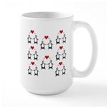 Penguins In Love Large Mug