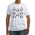 Penguins In Love Fitted T-Shirt