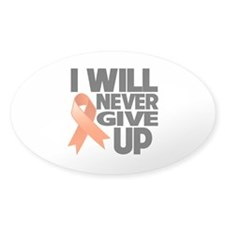 Never Give Up Leukemia Decal