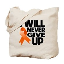 Never Give Up Leukemia Tote Bag