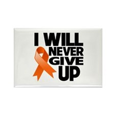 Never Give Up Leukemia Rectangle Magnet
