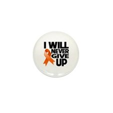 Never Give Up Leukemia Mini Button (10 pack)