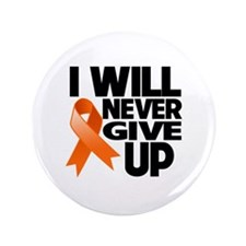"""Never Give Up Leukemia 3.5"""" Button (100 pack)"""