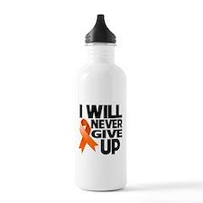 Never Give Up Leukemia Water Bottle
