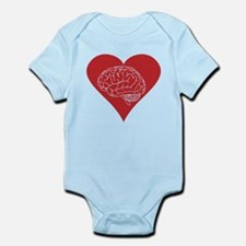 I love brains for zombies and geeks Infant Bodysui