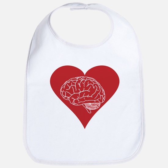 I love brains for zombies and geeks Bib