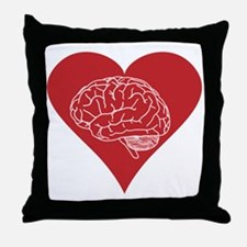 I love brains for zombies and geeks Throw Pillow