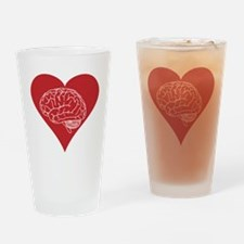 I love brains for zombies and geeks Drinking Glass