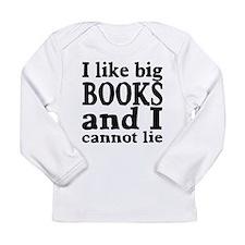 I like big books and I cannot lie Long Sleeve Infa