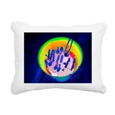 Barbeque, thermogram - Rectangular Canvas Pillow