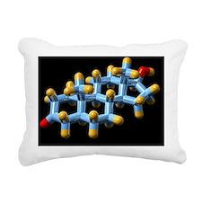 DHT hormone, molecular model - Rectangular Canvas