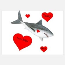 Personalized Shark Valentine Invitations