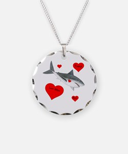 Personalized Shark Valentine Necklace