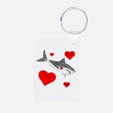 Personalized Shark Valentine Keychains