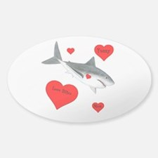 Personalized Shark Valentine Decal