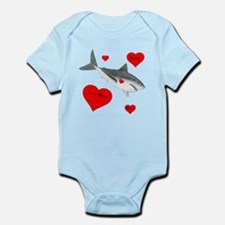 Personalized Shark Valentine Infant Bodysuit