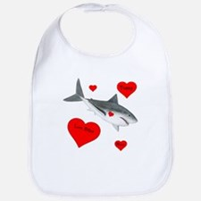Personalized Shark Valentine Bib