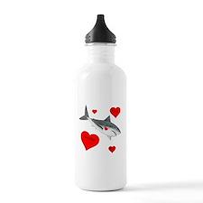 Personalized Shark Valentine Water Bottle