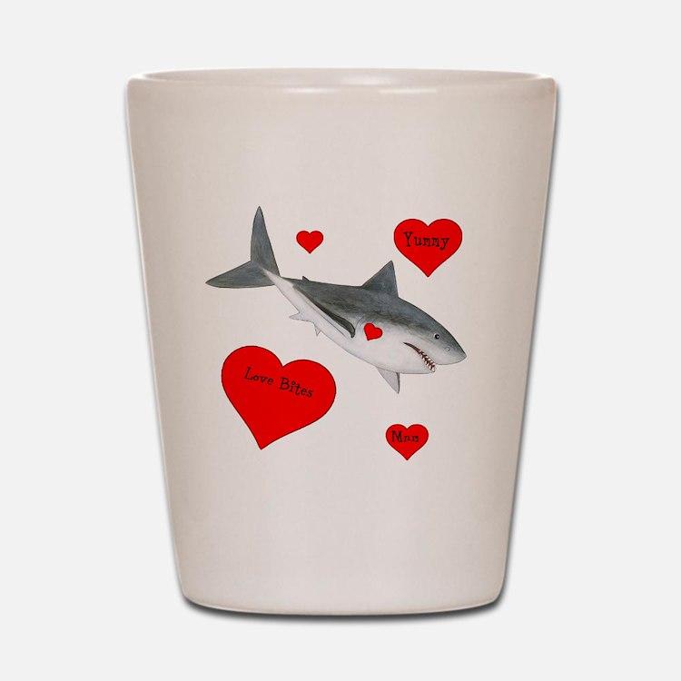 Personalized Shark Valentine Shot Glass