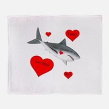 Personalized Shark Valentine Throw Blanket