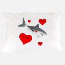 Personalized Shark Valentine Pillow Case