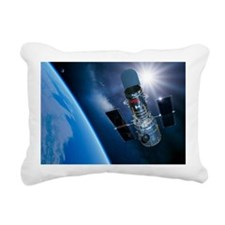Hubble Space Telescope in orbit, artwork - Rectang