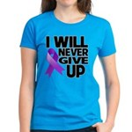 Never Give Up GIST Cancer Women's Dark T-Shirt