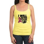 Never Give Up GIST Cancer Jr. Spaghetti Tank