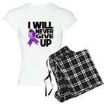 Never Give Up GIST Cancer Women's Light Pajamas