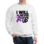 Never Give Up GIST Cancer Sweatshirt