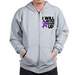Never Give Up GIST Cancer Zip Hoodie