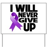 Never Give Up GIST Cancer Yard Sign