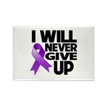 Never Give Up GIST Cancer Rectangle Magnet (100 pa
