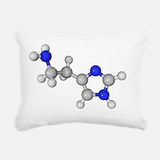 Histamine molecule - Rectangular Canvas Pillow