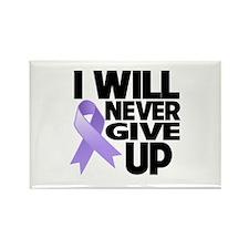 Never Give Up General Cancer Rectangle Magnet