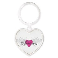 My Sweet Angel Addison Heart Keychain