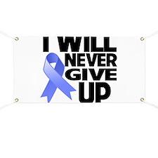 Never Give Up Esophageal Cancer Banner
