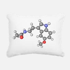 Melatonin hormone molecule - Rectangular Canvas Pi