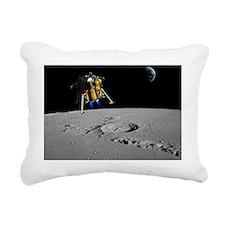 Moon lander, artwork - Rectangular Canvas Pillow