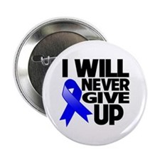 """Never Give Up Colon Cancer 2.25"""" Button (10 pack)"""