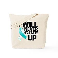 Never Give Up Cervical Cancer Tote Bag