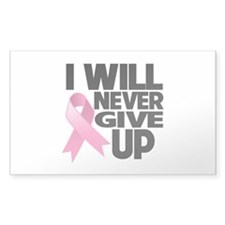 Never Give Up Breast Cancer Decal