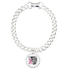Never Give Up Breast Cancer Bracelet